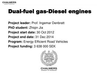 D ual-fuel gas-Diesel engines