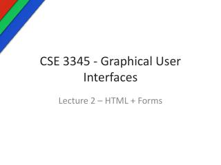 CSE 3345 - Graphical User Interfaces