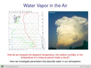 Water Vapor in the Air
