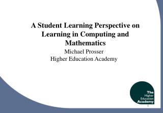 A Student Learning Perspective on Learning in Computing and Mathematics
