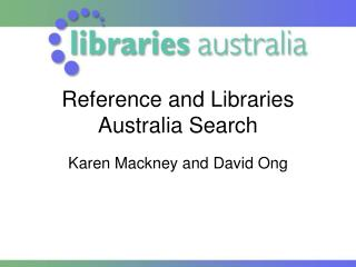 Reference and Libraries Australia Search