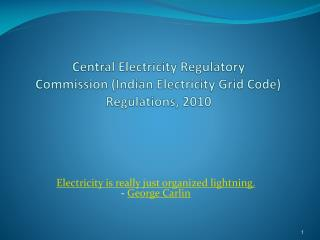Central Electricity Regulatory Commission (Indian Electricity Grid Code) Regulations, 2010