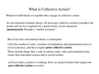 What is Collective Action?