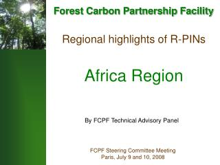 Regional highlights of R-PINs Africa Region