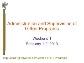 Administration and Supervision of Gifted Programs