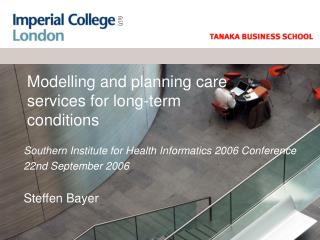 Modelling and planning care services for long-term conditions