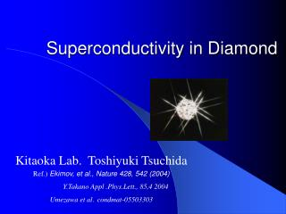 Superconductivity in Diamond