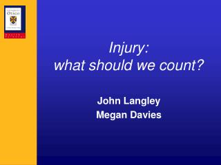 Injury: what should we count?