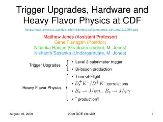 Trigger Upgrades, Hardware and Heavy Flavor Physics at CDF