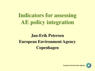 Indicators for assessing          AE policy integration