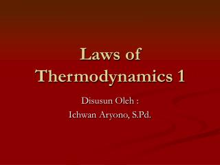 Laws of Thermodynamics 1