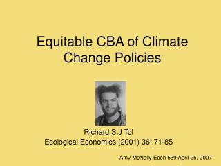 Equitable CBA of Climate Change Policies