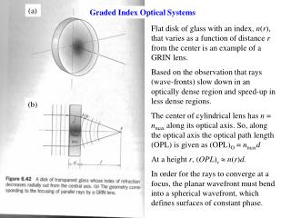 Graded Index Optical Systems