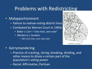 Problems with Redistricting