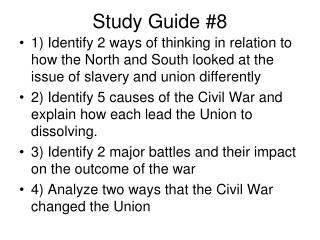 Study Guide #8