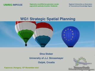 WG1 Strategic Spatial Planning