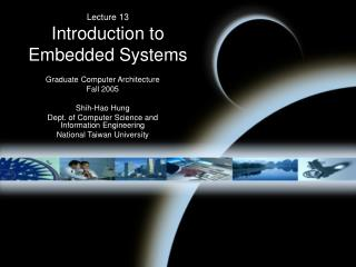 Lecture 13 Introduction to Embedded Systems