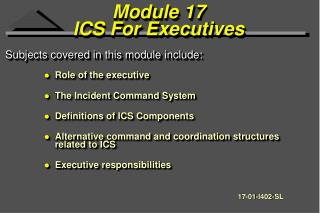 Module 17 ICS For Executives