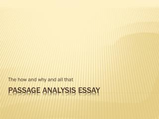 Passage Analysis Essay