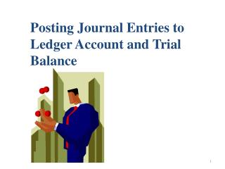 Posting Journal Entries to Ledger Account and Trial Balance