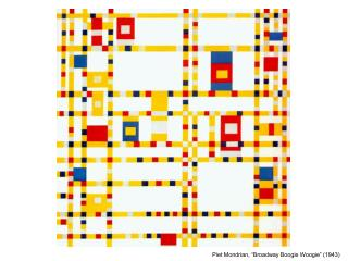"""Piet Mondrian, """"Broadway Boogie Woogie"""" (1943)"""