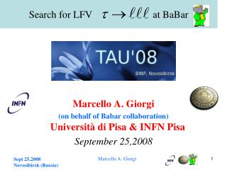 Search for LFV                        at BaBar