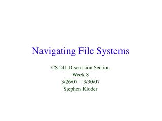 Navigating File Systems