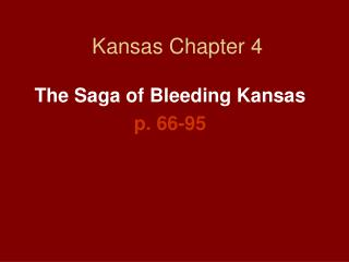 Kansas Chapter 4