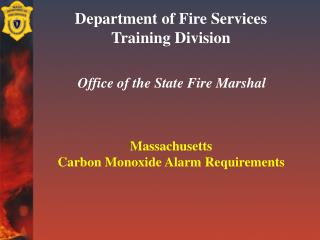 Department of Fire Services Training Division