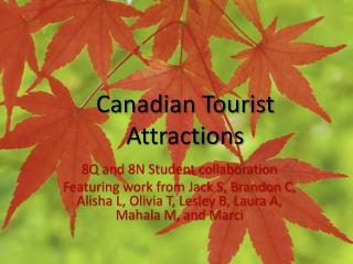 Canadian Tourist Attractions