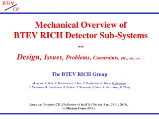 Based on :  Directors CD-2/3a Review of the BTeV Project (Sept. 28-30, 2004),
