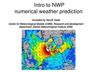 Intro to NWP numerical weather prediction