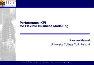 Performance KPI  for Flexible Business Modelling