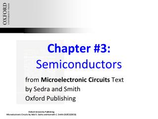 Chapter #3:  Semiconductors
