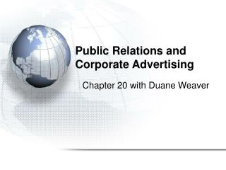 Public Relations and Corporate Advertising