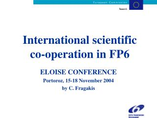 International scientific co-operation in FP6