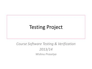 Testing Project
