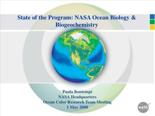 State of the Program: NASA Ocean Biology & Biogeochemistry