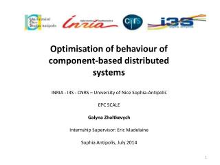 Optimisation  of  behaviour  of component-based distributed systems