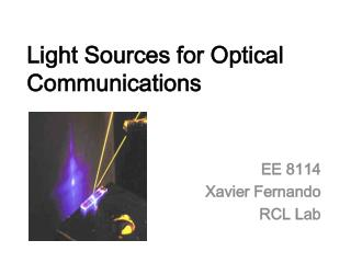 Light Sources for Optical Communications