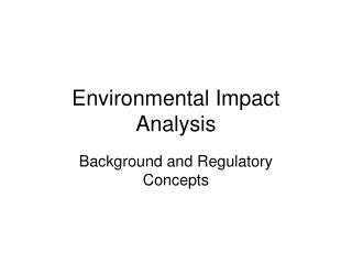 Environmental Impact Analysis