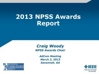 2013 NPSS Awards Report