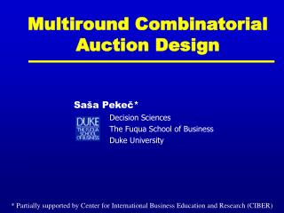 Multiround Combinatorial Auction Design