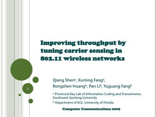 Improving throughput by tuning carrier sensing in 802.11 wireless networks
