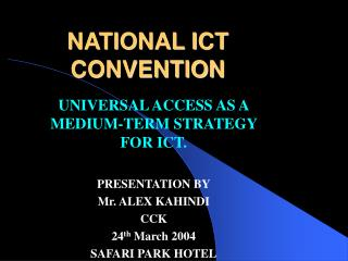 NATIONAL ICT CONVENTION