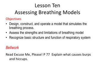 Lesson Ten Assessing Breathing Models