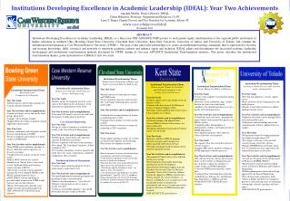 Institutions Developing Excellence in Academic Leadership (IDEAL): Year Two Achievements