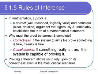 §1.5 Rules of Inference