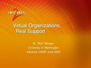 Virtual Organizations,   Real Support