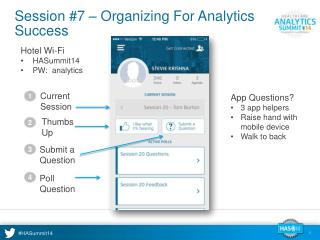 Session #7 – Organizing For Analytics Success